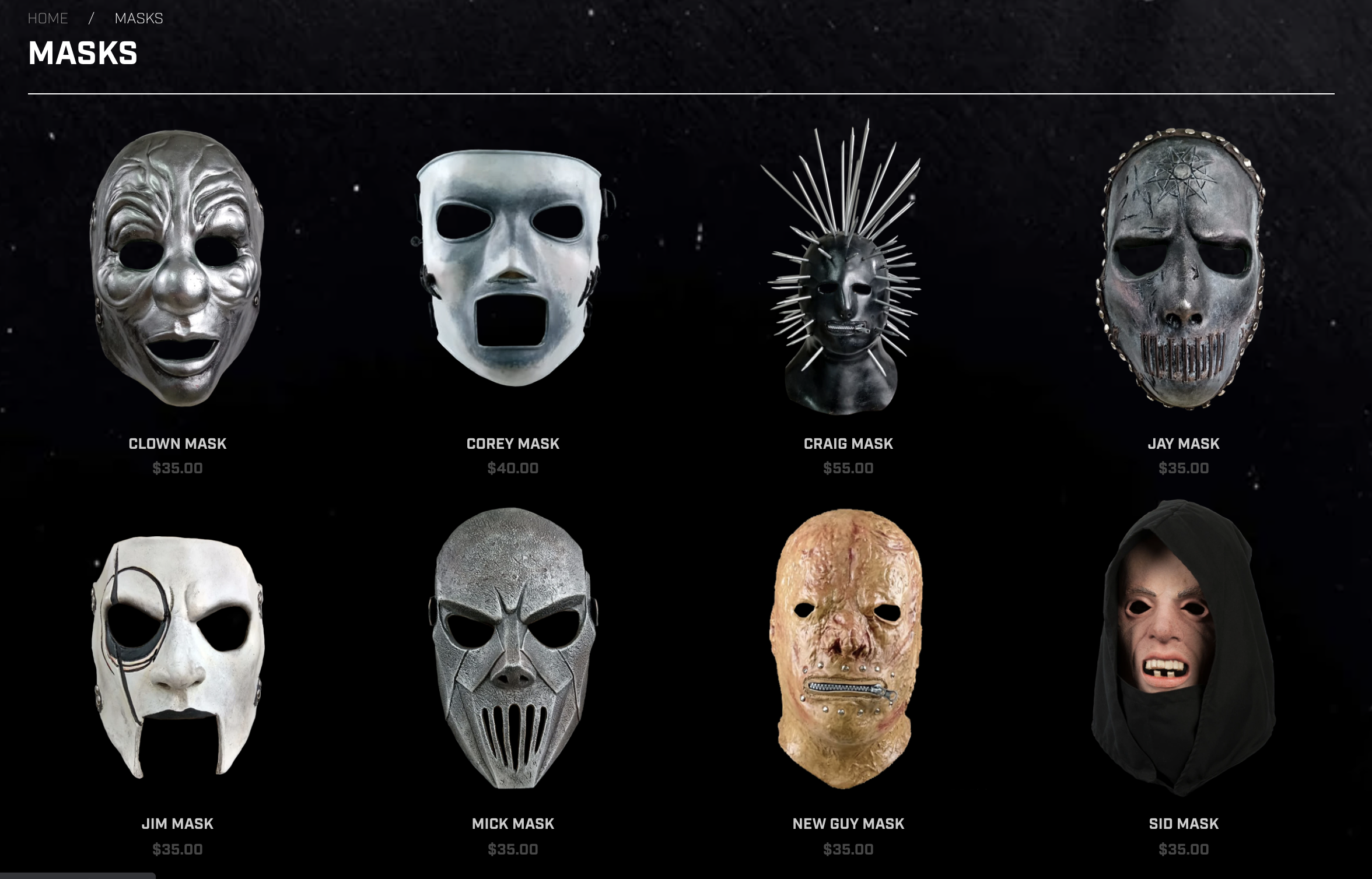 NEW Masks in store!